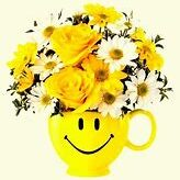 Flower vase happy face