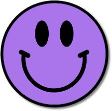 purple smiling face